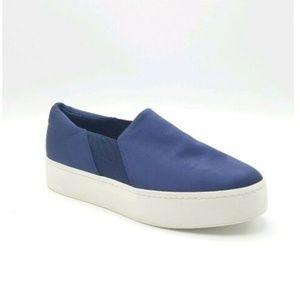 Vince Warren Slip On Satin Platform Sneakers 8.5